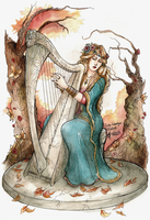 COM ~ The Harpist by Songes-et-crayons
