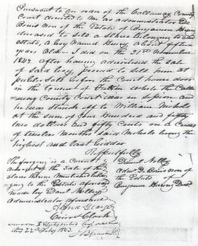 1842 Report of Sale by Morris88