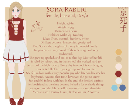 Sora Raburi [Reference Sheet] by Silverleinchen