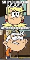 Why is your hair white? by PhoenixOfGrunvale