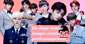 RENDER PACK BTS OT6 DOPE IMAGE TEASERS by souqoreans