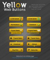 Yellow Web Buttons by kh2838