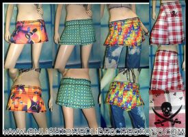 Funky Skirts Kilts by RedheadThePirate