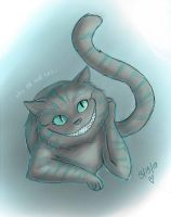 Cheshire Cat Sketch by Zombietastic