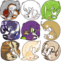 noodle baby icons by mybirdy