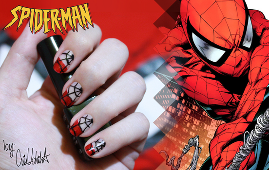Nail designs on nailartlove deviantart kwsapphire 2 3 simple spider man nail design by icrisuchiha prinsesfo Choice Image