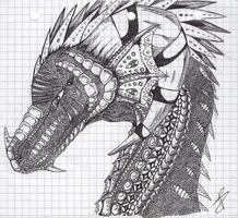 Old but gold - Old pen mandalha dragon by Alita-Berserker