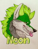 Neon Badge by MinakoWolf37