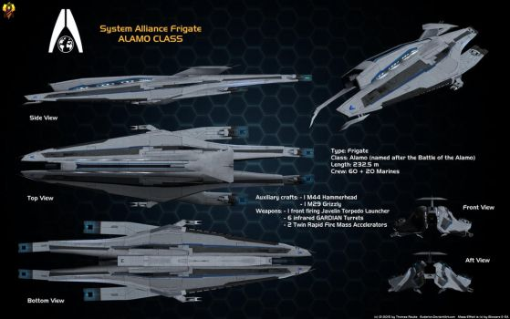 System Alliance Alamo class Frigate Overview by Euderion