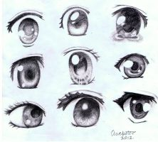 Anime Eyes by annoKat
