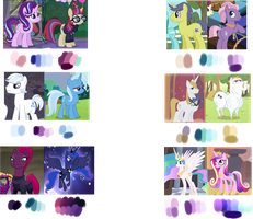 Mlp Custom Color Palette Commisson by 6SixtyToons6