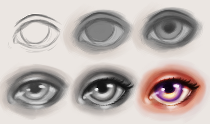 Step By Step Drawing To Get A Realistic Eye From A Photo