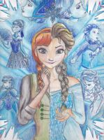 DisneyFrozen-Elsa and Anna, sisters and differents by MlleBeckieR