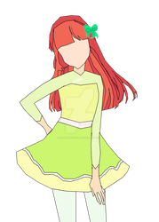 {FLAT COLOR} Ako Satome: Ice Dance by RebelWinxGirl