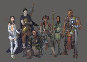 Dnd party commission by Varbas