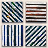Square Stripes One, Two, Three and Four by monkeycrisisonmars