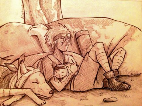 Kakashi Chilling out =^= by Sinchana-Amasawa