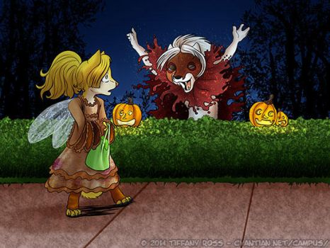Happy Halloween from the Cyantian Chronicles by shivaesyke