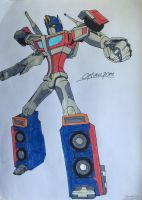 Optimus Prime (my own design) by KillerTeddyBear94