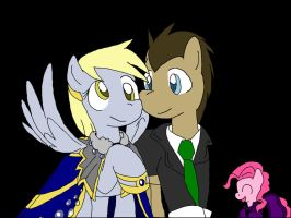 Doctor Whooves and Derpy by bloodblader