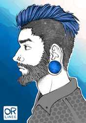 hipster/bear by Orlinee