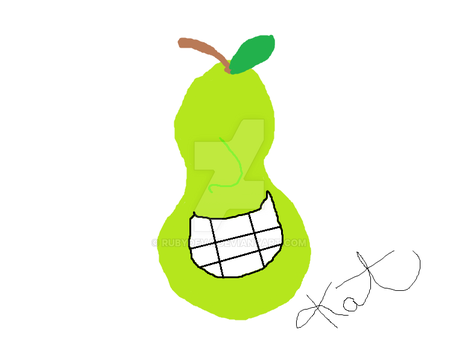 Smiling Pear by rubydeva