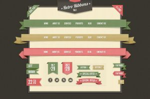 Free Vintage Web Elements by Pixeden