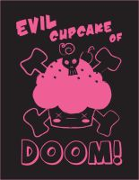 Evil Cupcake of Doom Pink by the-only-halo