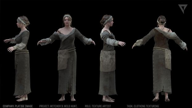 Witcher 3- Trailer, clothing texturing by TheBugaj