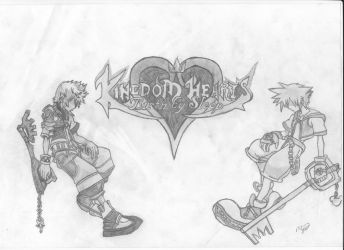 Sora and Ventus (FINISHED) - Kingdom Hearts by mikhell1