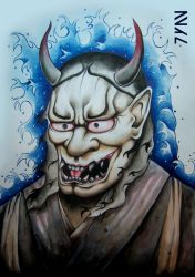 Hannya mask by Juan0G