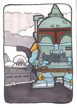 Star Wars Boba Fett Sketchcard by houseofduck