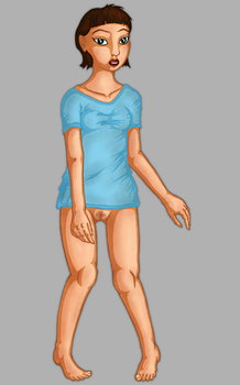 Girl in shirt by delusionalHamster