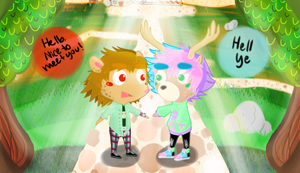 Animal Crossers - Zach and Niles by IciestBlack