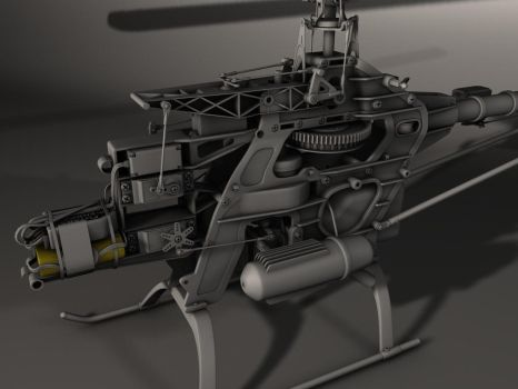 WIP - RC helicopter by 3Dapple