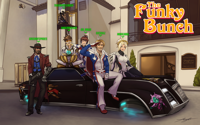 The Funky Bunch Overwatch crew by DJCoulz
