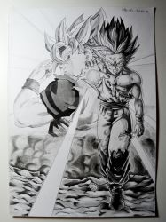 Gohan and His Father by RJEsteves