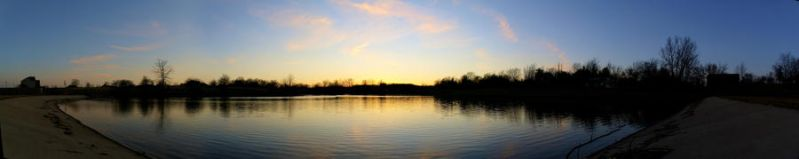 Sunset Lake Panorama by Nattgew