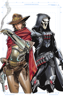 Overwatch - Mccree and Reaper by EricMartinDOOD