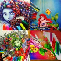 Some of my ballpoint pen works by samiahdagher