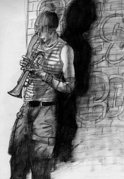 Trumpet Player by BarkingSpiders