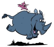 R is for Rhino by toonbaboon
