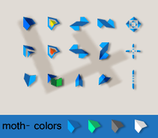 Moth- 4 colors schemes by tchiro
