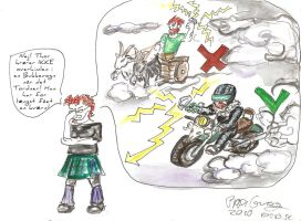 Thor on his Bike by Snigepippi