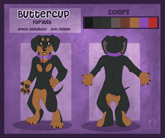Buttercup Fursuit Reference by WindWo1f