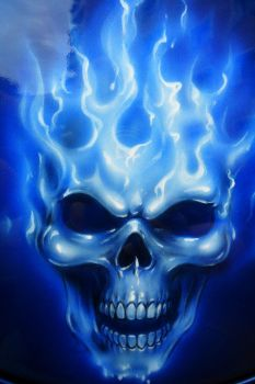 Flame n Skull Close up by linkerart
