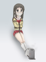 Mai chan bound next to a heater by imoutoid