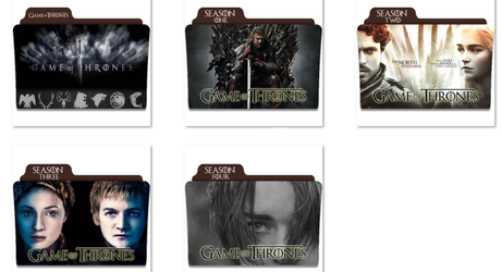 Game Of Thrones Folder Icons by nellanel