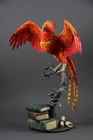 Fawkes phoenix Dumbledore (Harry Potter sculpture) by ColibriWorkshop