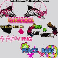 My Frist Pack Text PNG by JakeLetoWorld